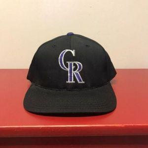 Colorado Rockies Hat VTG Adult Snapback Official G